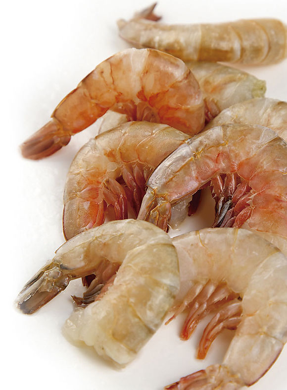 Brown shrimps tails skin on