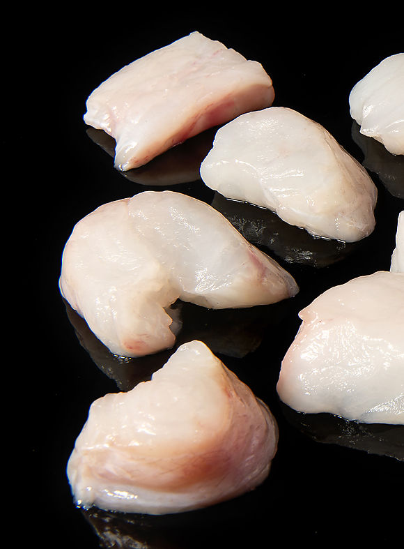 Pacific monkfish dices