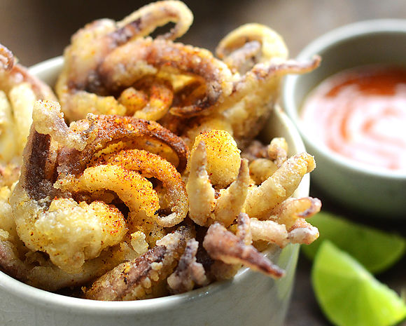 Indian squid tentacles